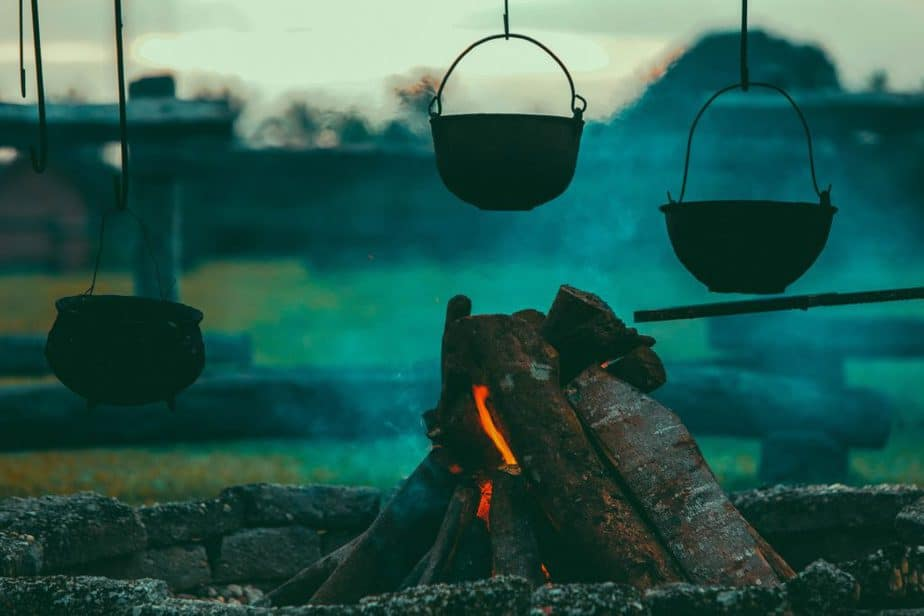 camping, cooking, pots, kitchenware