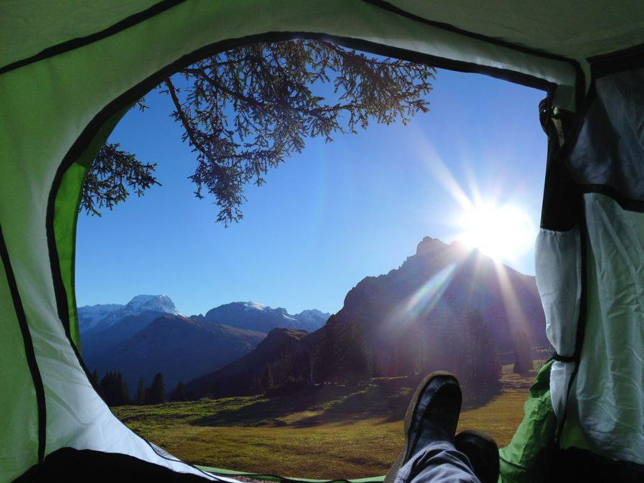 camping, tent, morning view, freedom, corpus aesthetics