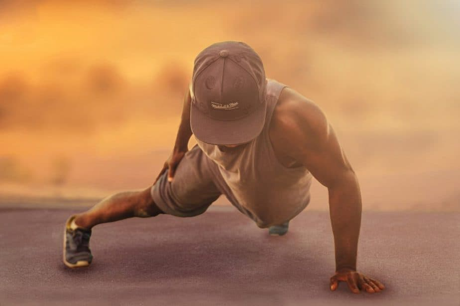 an athlete exercising