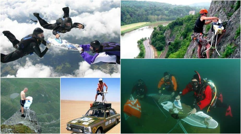 extreme ironing, unusual sports