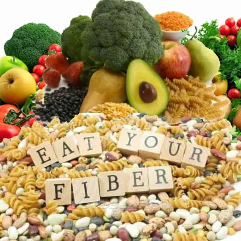 eating fiber eat broccoli avocado apple pear grains fruits vegetables