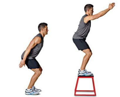 box jump excercise