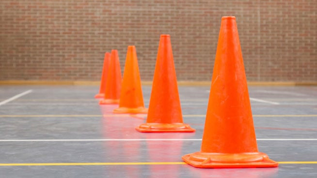cone drils basketball court