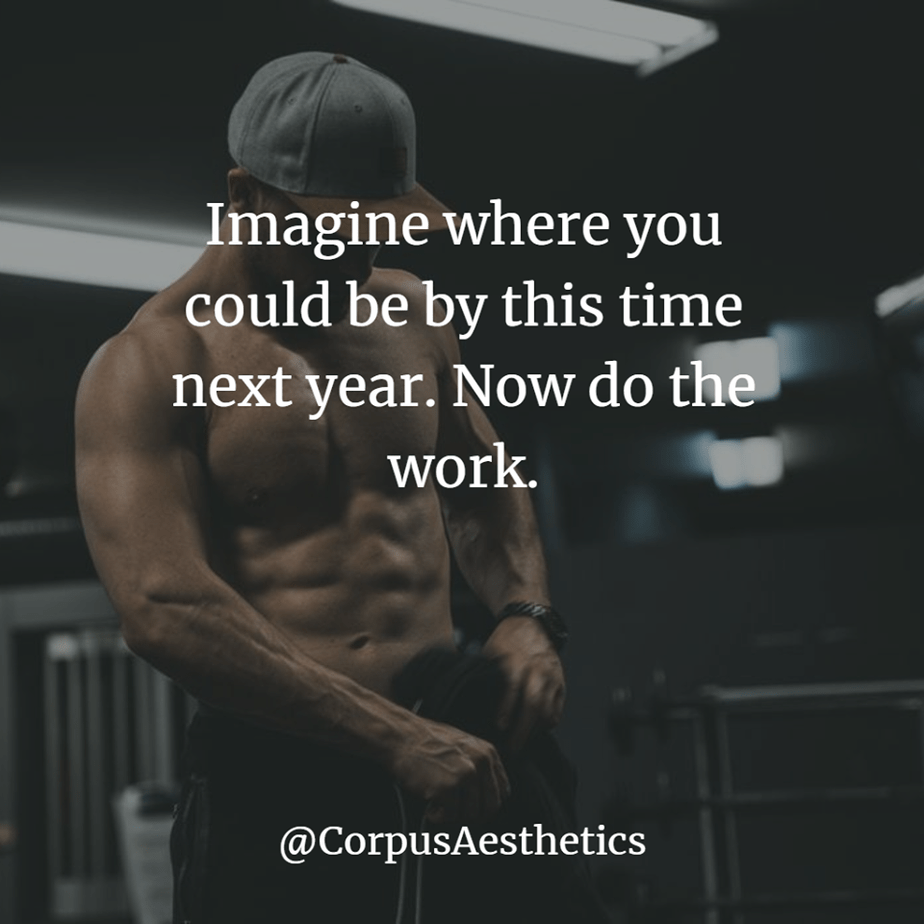 gymspirational quotes, Imagine where you could be by this time next year, Now do the work, a guy is preparing for training