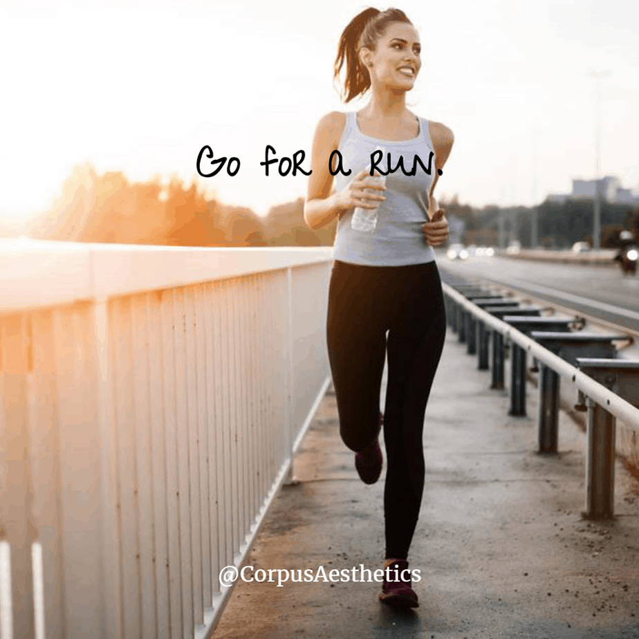 running inspirational quotes, Go for a run, a girl has a weightloss training with running outside