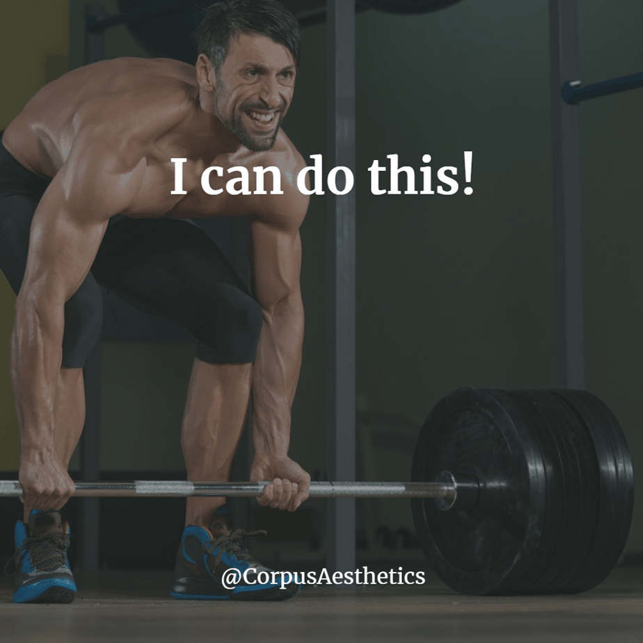 weight lifting inspirational quotes, I can do this!, a guy has a weightlifting training at the gym