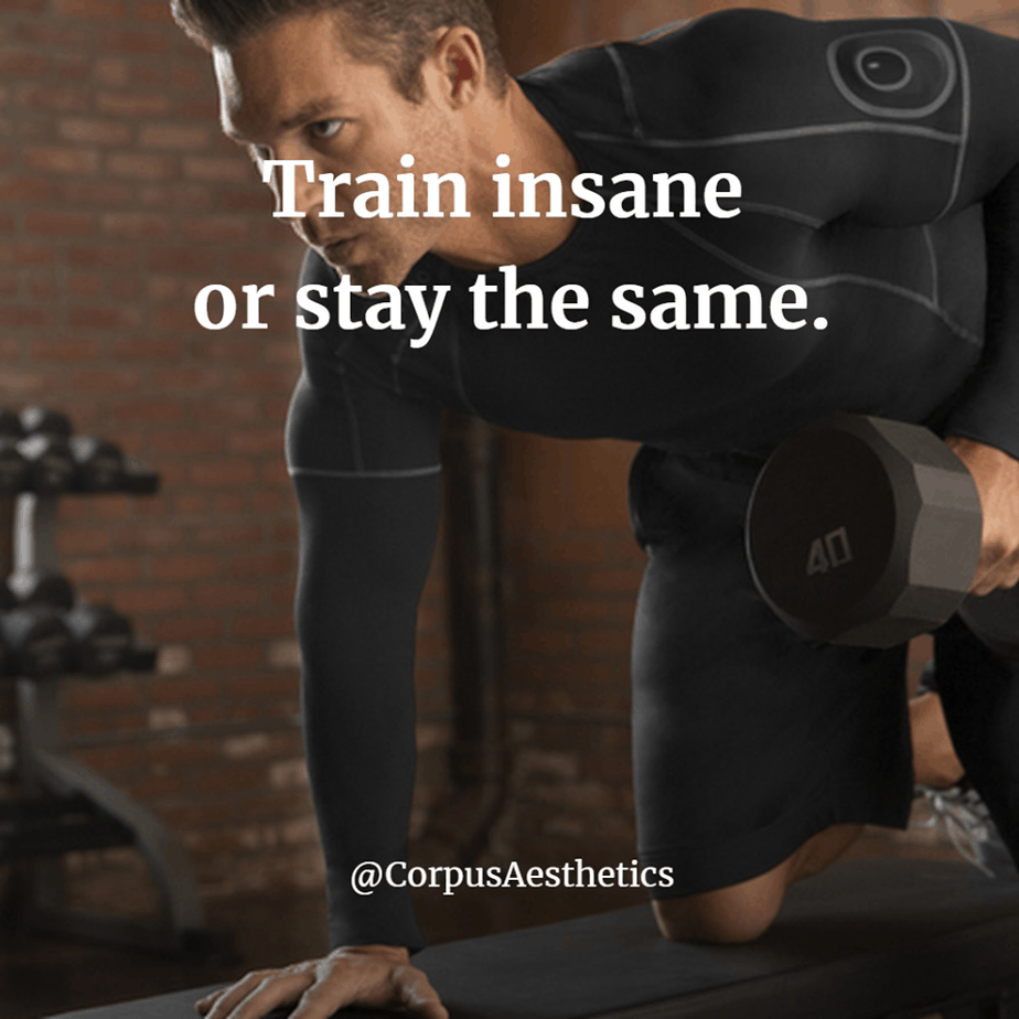 gym motivational quotes, Train insane or stay the same, a guy has a weightlifting training in the gym