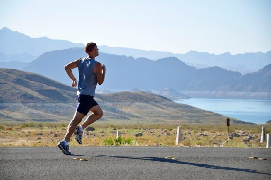 an athlete running outdoors