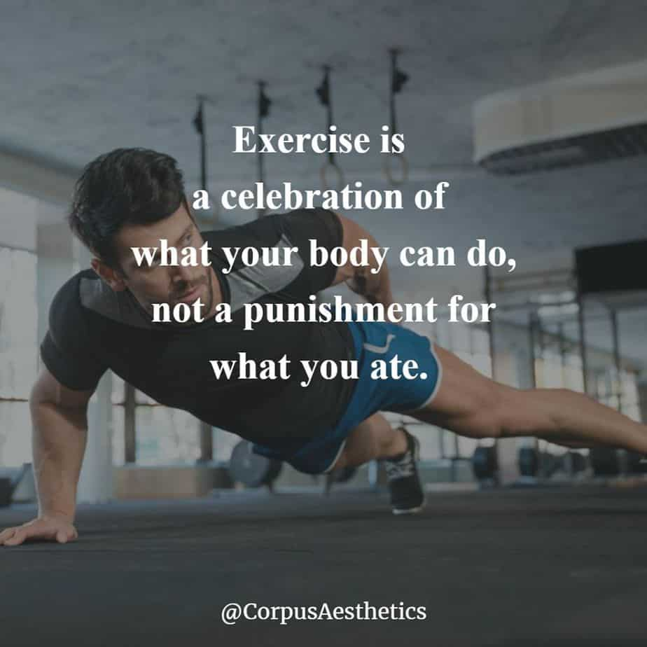 strength training motivational quotes, Exercise is a celebration of what your body, a guy has a training with push-ups