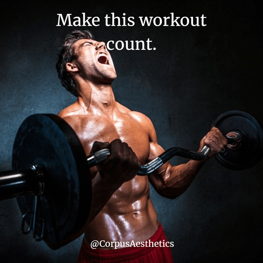 weight lifting motivational quotes, Make this workout count, a guy has a weight lifting training at the gym