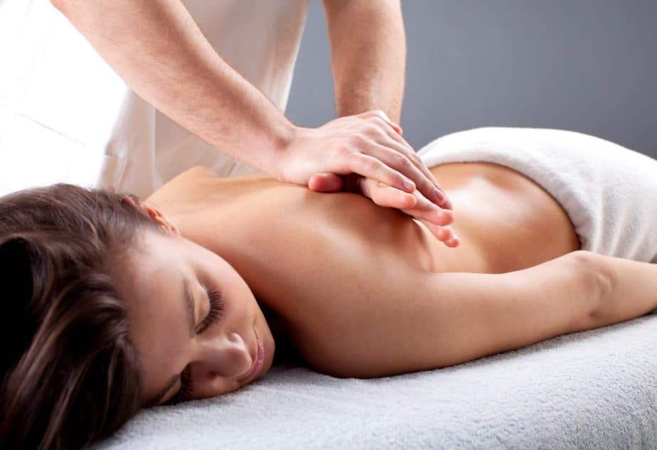 Massage therapy for relaxing muscles after hard working day
