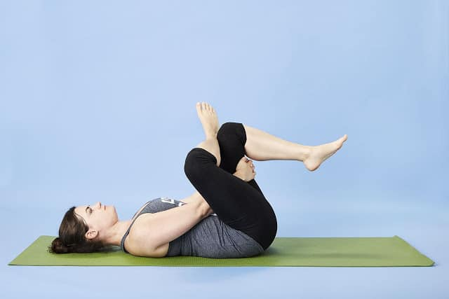 Reclining pigeon position, exercises for lower back pain