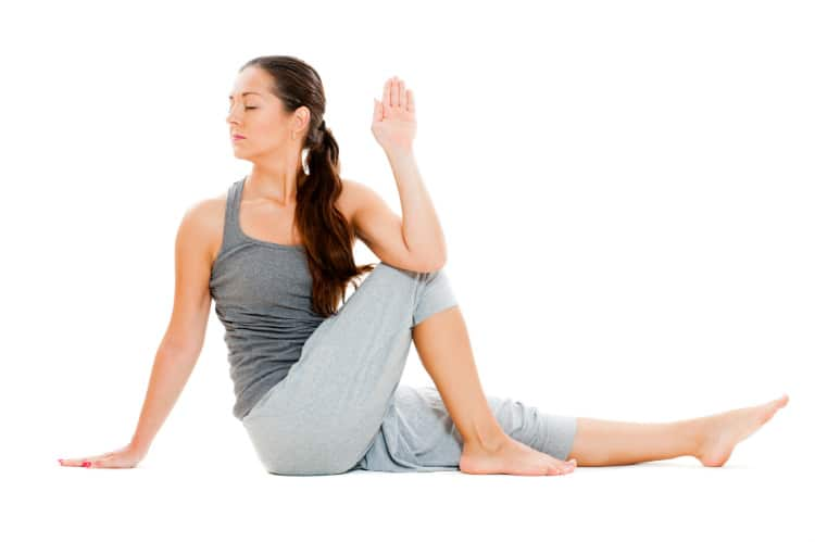 Sitting spinal stretch, sciatica exercise