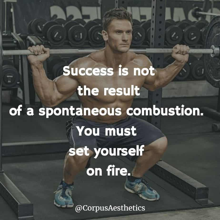 weight lifting inspirational quotes, Success is not the result of a spontaneous combustion, a guy has weightlifting training
