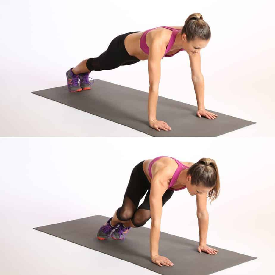 bunny hop side hopping push up exercise