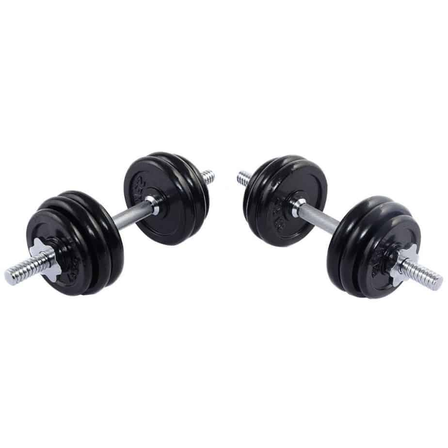 A dumbbells for training at home