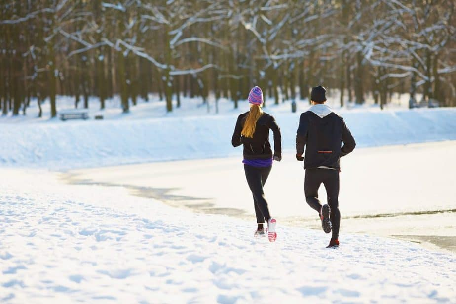 An appropriate winter wear for running