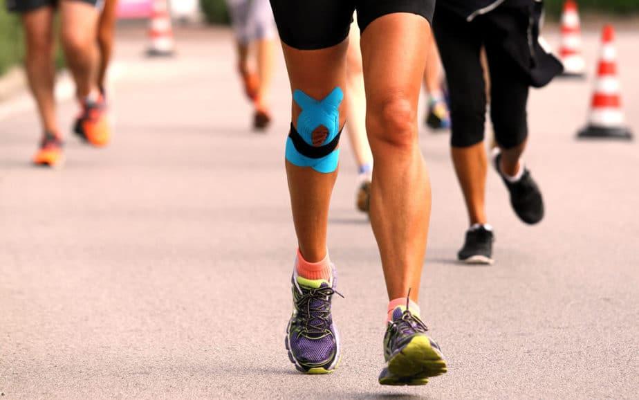 running with knee bandage