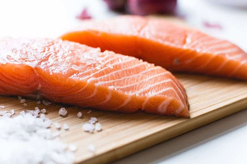 salmon fillets, food for losing weight without without losing muscle