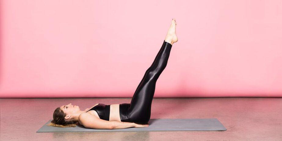 leg raise core strength exercise