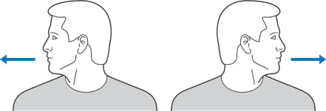 Example for neck exercise
