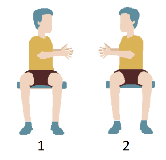 Example for shoulders and back exercise