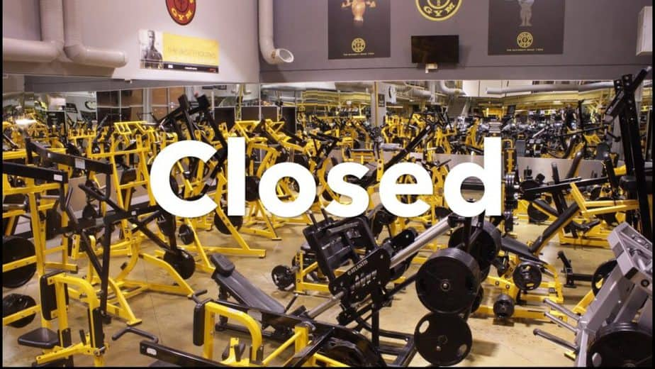 No opportunities for training because of closed gym