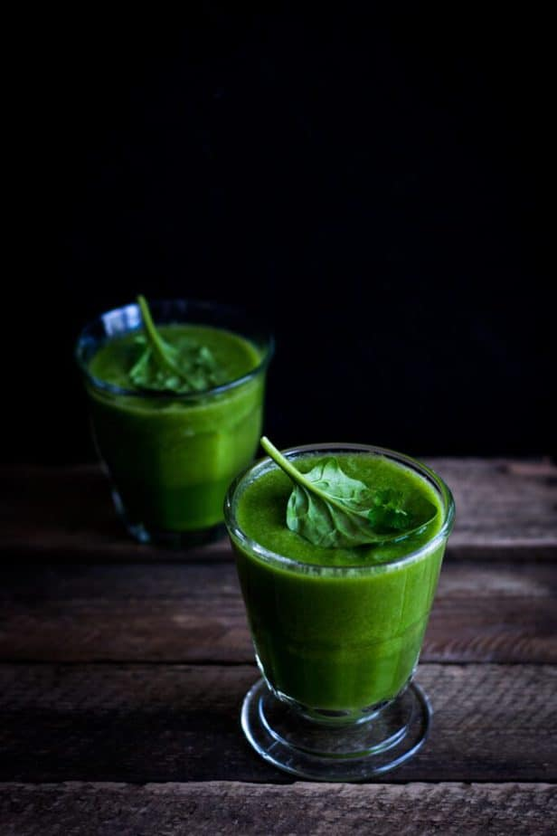 spinach smoothie against fatigue