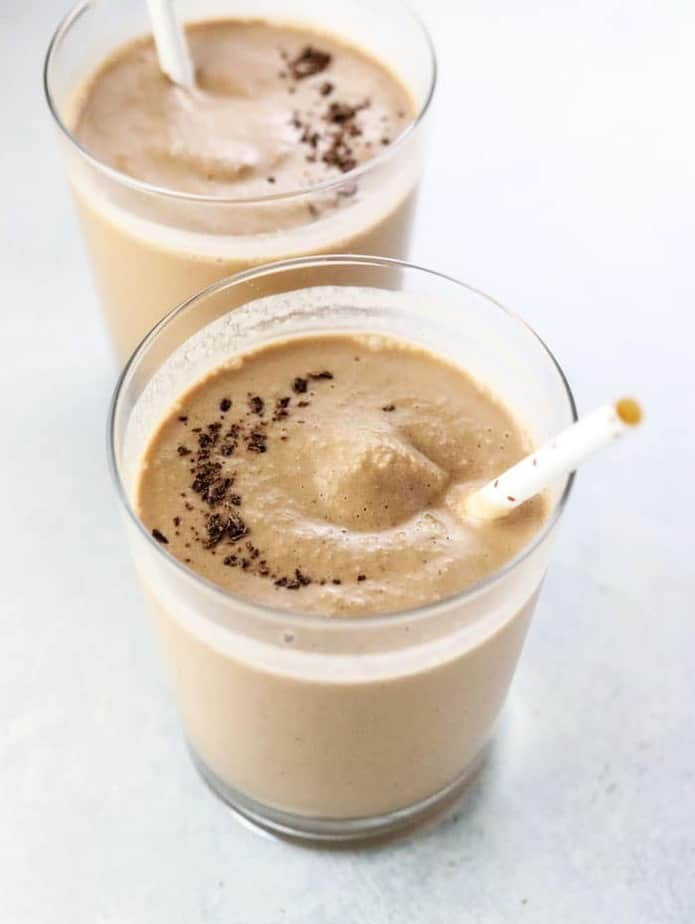 Peanut butter and chocolate smoothie
