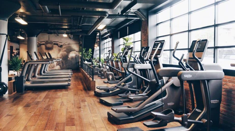Gym with a different gym equipment