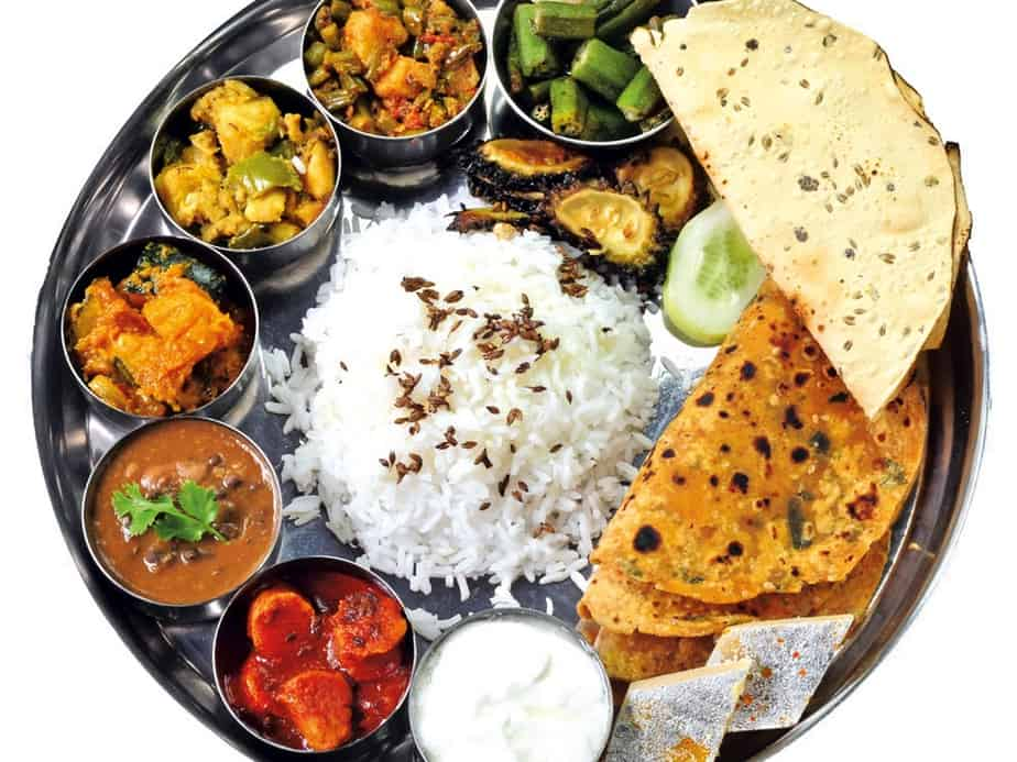 An example of different Indian food