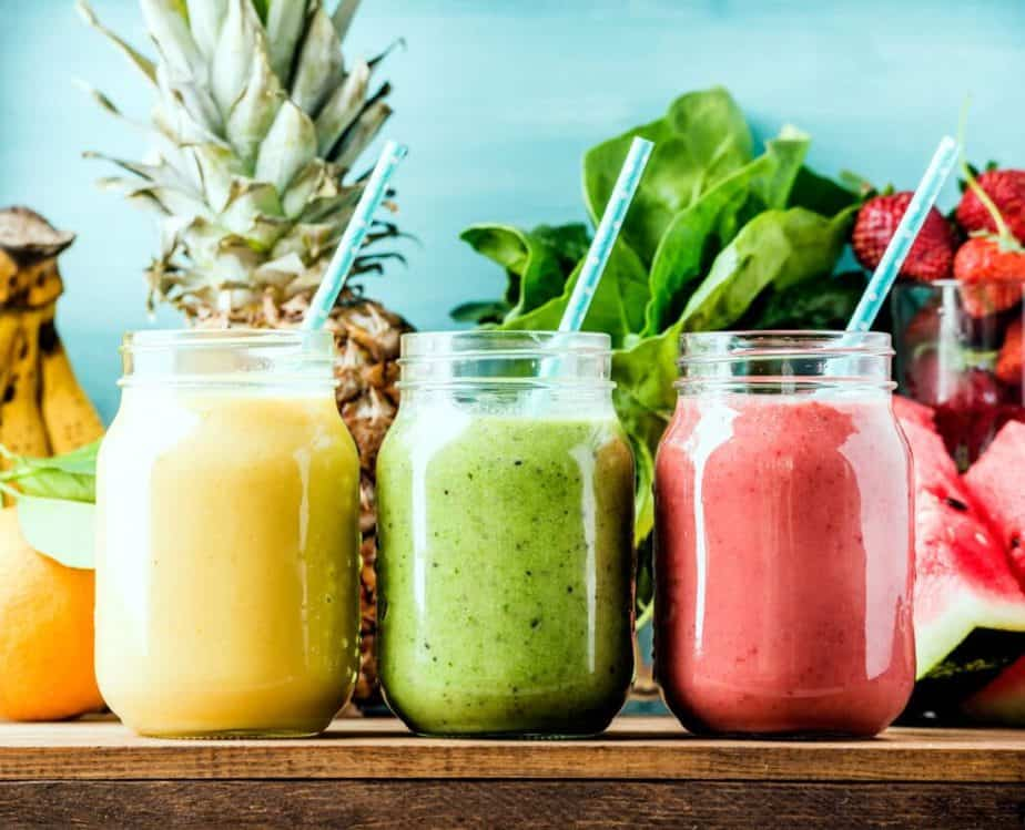 A different kinds of smoothies