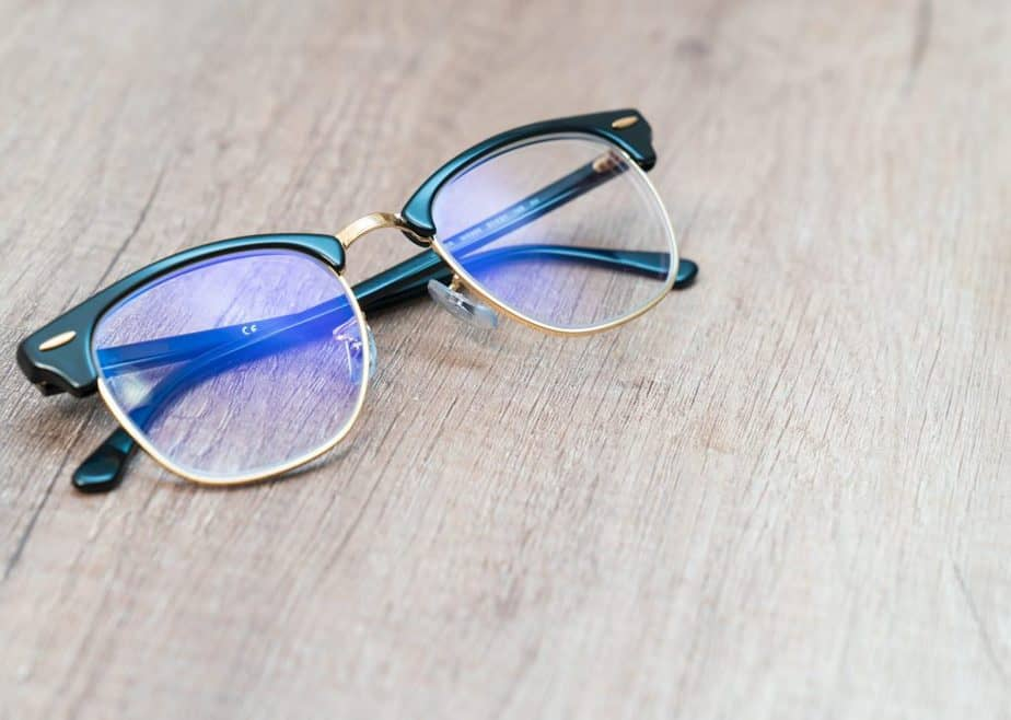 vintage style frame blue light glasses