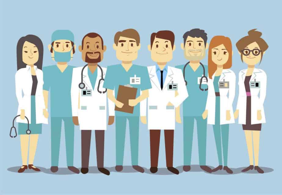 The various types of doctors in healthcare