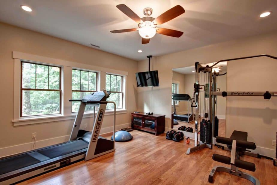 A different types of home gym equipment