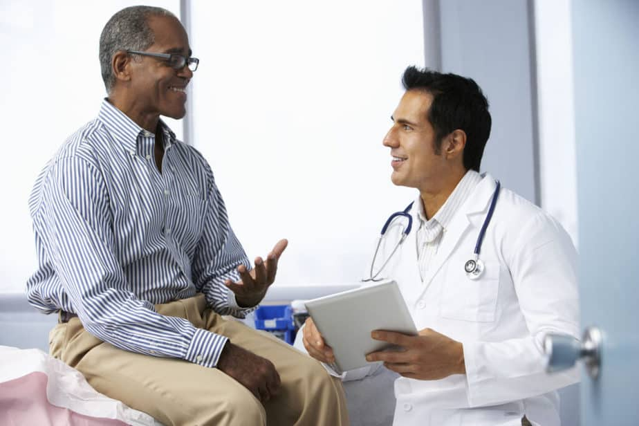 Talking to a doctor abour joint pain