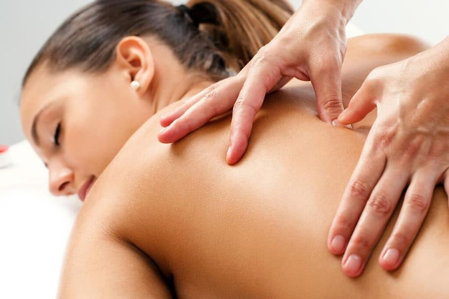 A girl is having a massage