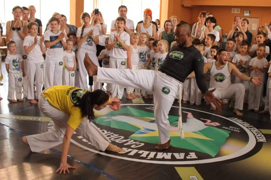 An example of social capoeira game