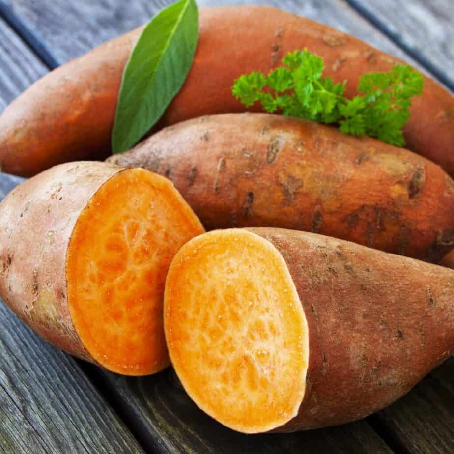 One kind of potatos - sweet potato