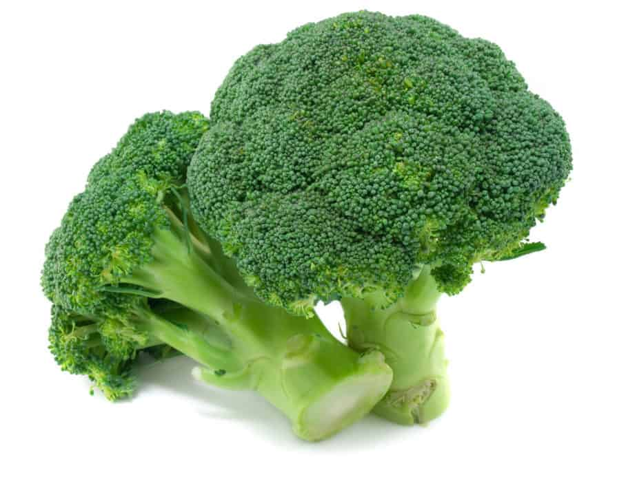 There is a fresh broccoli