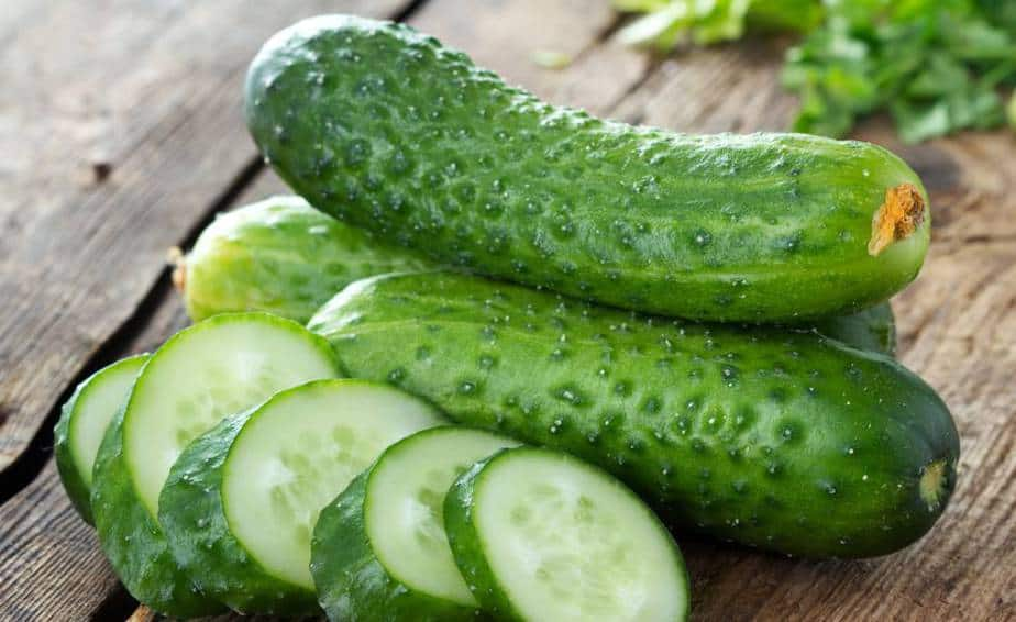 An example of diet vegetables - cucumber