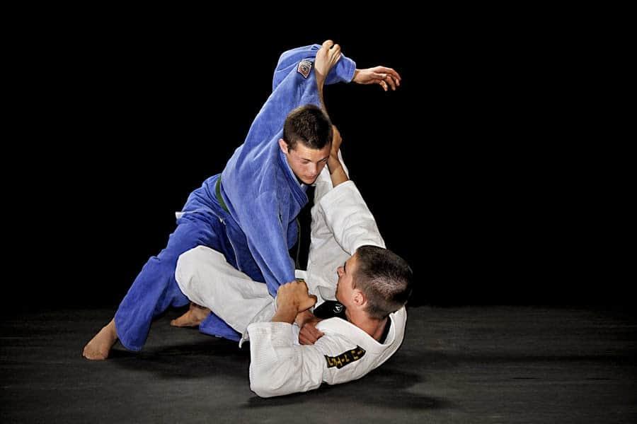 Jiu-jitsu guys has a training