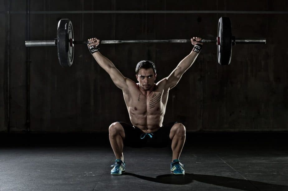 A guy has a strenght training