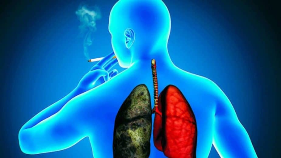 One of the reasons of lung diseases is smoking. This man should train lungs.