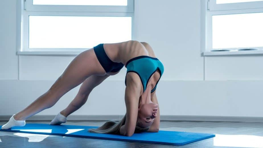 A body flexibility after yoga practicing.