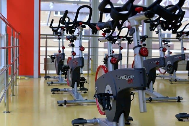 More than 5 stationary bikes in one room.