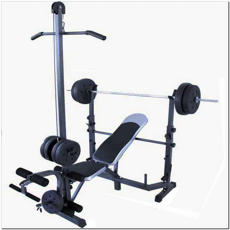There is a weightlifting machine on this picture.