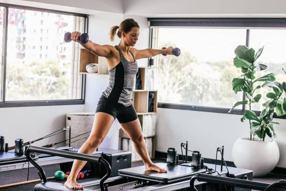 The latest fitness trend - training at home.
