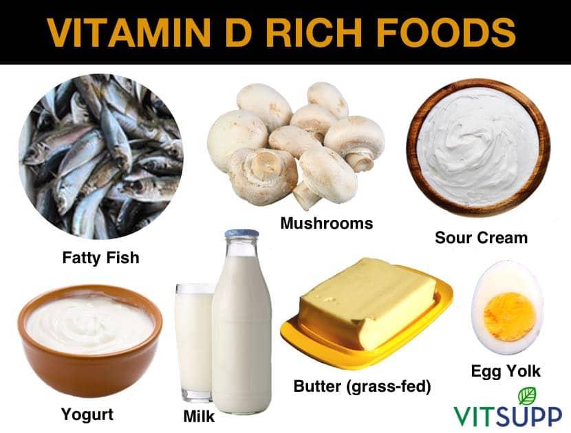 Vitamin D rich foods.