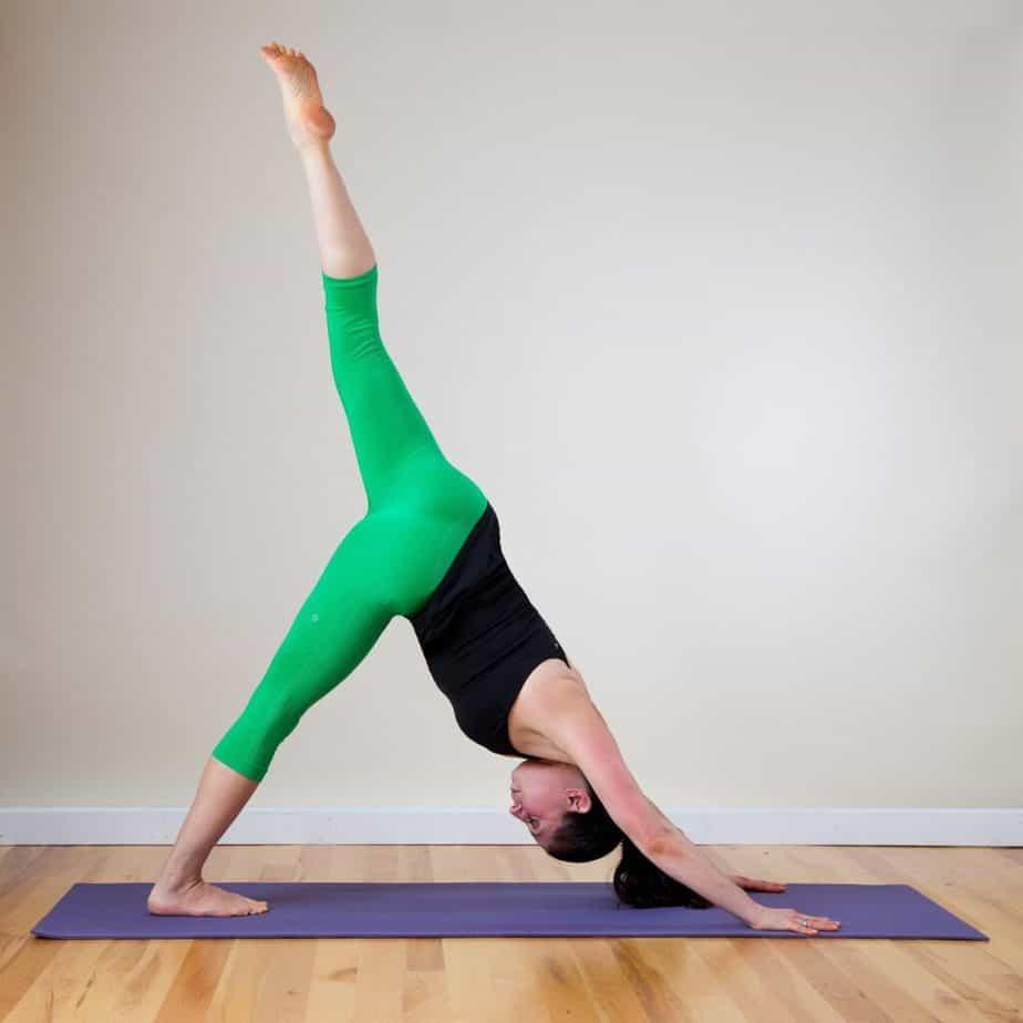 A girl in yoga Asana.